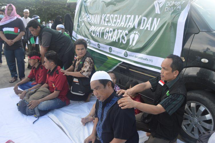 Dompet Dhuafa Sulsel beri pelayanan untuk peserta Aksi Bela Al-Quds (Palestina)