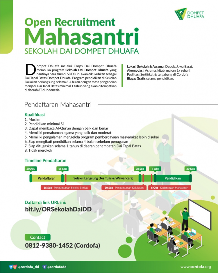 Open Recruitment Sekolah Dai Dompet Dhuafa