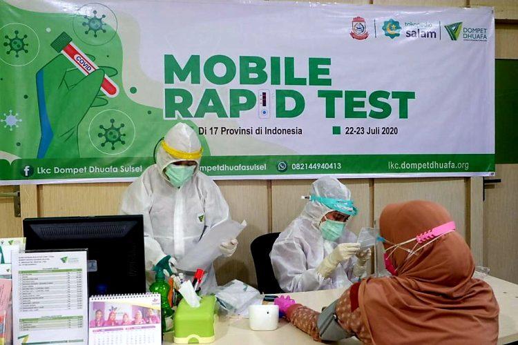 Dompet Dhuafa Menghadirkan Mobile Rapid Test Gratis di Makassar dan Gowa