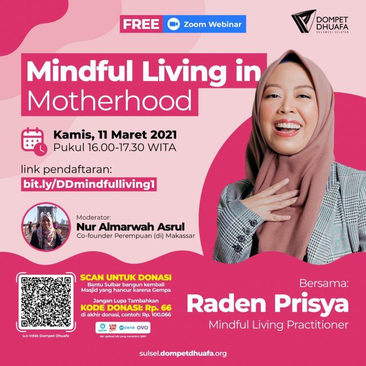 Dompet Dhuafa Bantu Perempuan Hidup Bekesadaran Melalui Webinar Mindful Living