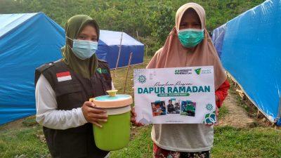 Bantu Penyintas Gempa Majene, Dompet Dhuafa Sulsel Dirikan Dapur Ramadan