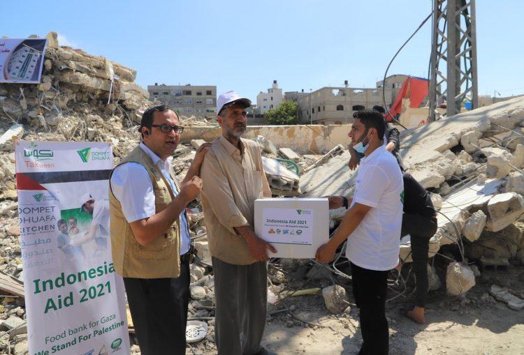 Dompet Dhuafa Salurkan 500 Paket Gaza Foodbank Bantuan Bagi Rakyat Gaza