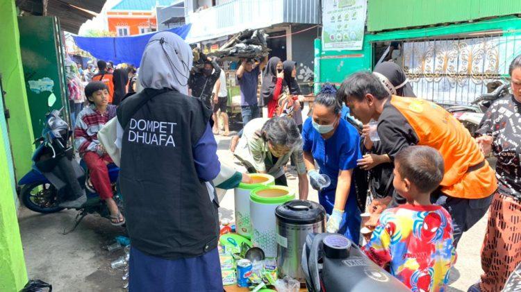 Bantu Korban Kebakaran Makassar, Dompet Dhuafa Sulsel Dirikan Pos Hangat